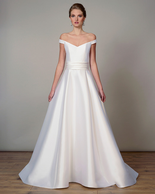 liancarlo wedding dress spring 2019 off-the-shoulder sash a-line