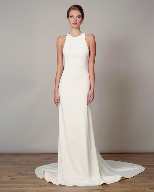 liancarlo wedding dress spring 2019 high-neck sheath