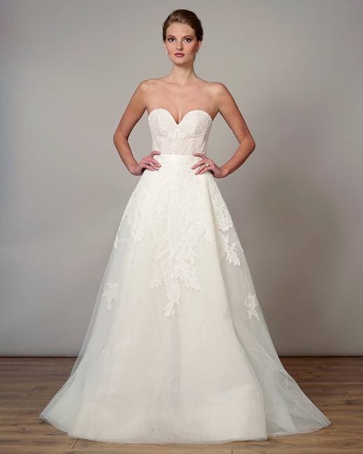 liancarlo wedding dress spring 2019 sweetheart embroidered ball gown