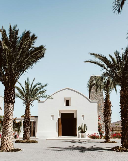 lisa sam mexico wedding location chapel palm trees