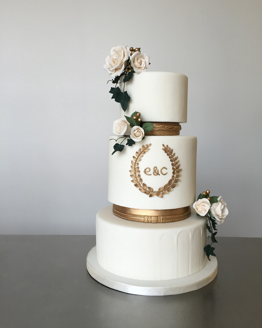 monogram wedding cake xanny bakes