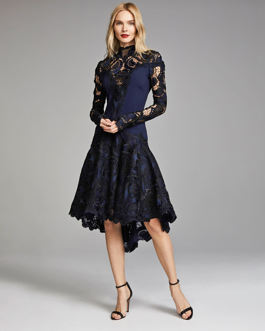 Jonathan Simkhai Appliqued Long Sleeve Dress