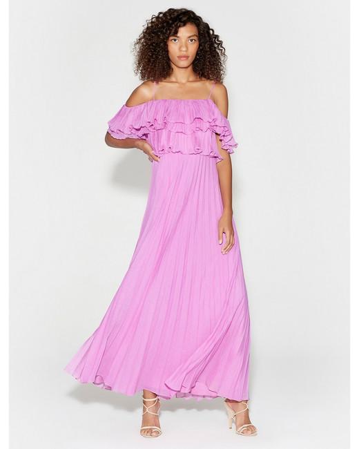 pink mob dresses halston heritage
