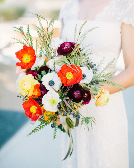 poppy bouquets birds of a feather bride