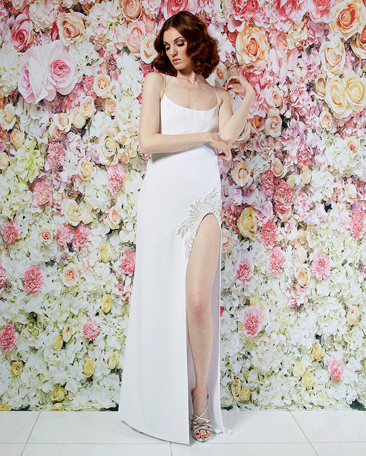 randi rahm wedding dress spring 2019 spaghetti-strap slit embroidery