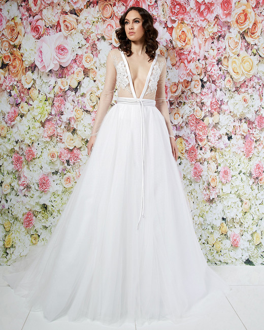 randi rahm wedding dress spring 2019 tulle ball gown sheer bodice