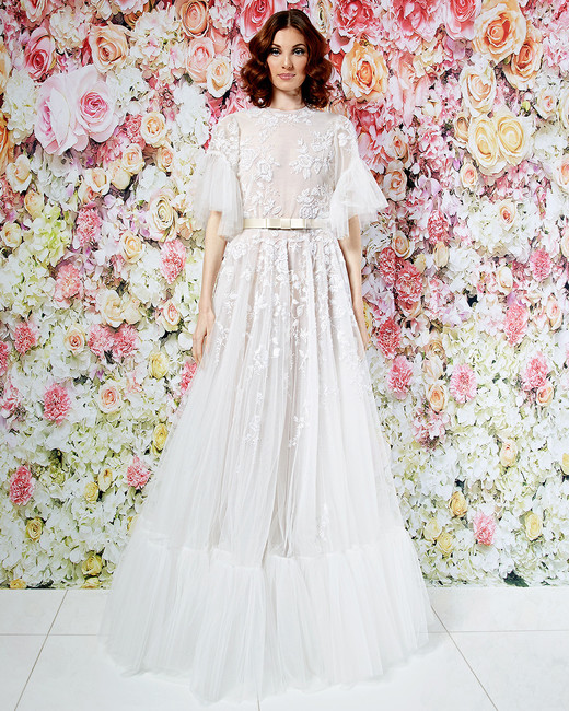 randi rahm wedding dress spring 2019 boho high-neck flutter sleeves
