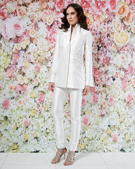 randi rahm wedding dress spring 2019 separates embroidered jacket pants