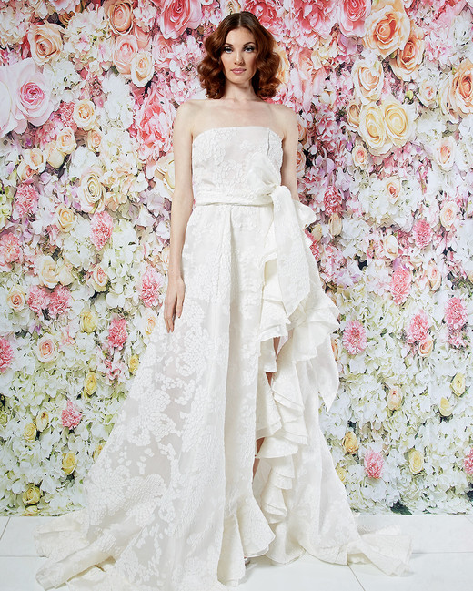 randi rahm wedding dress spring 2019 strapless a-line ruffle sash