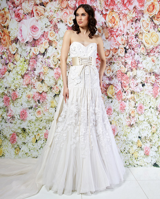 randi rahm wedding dress spring 2019 belted a-line applique
