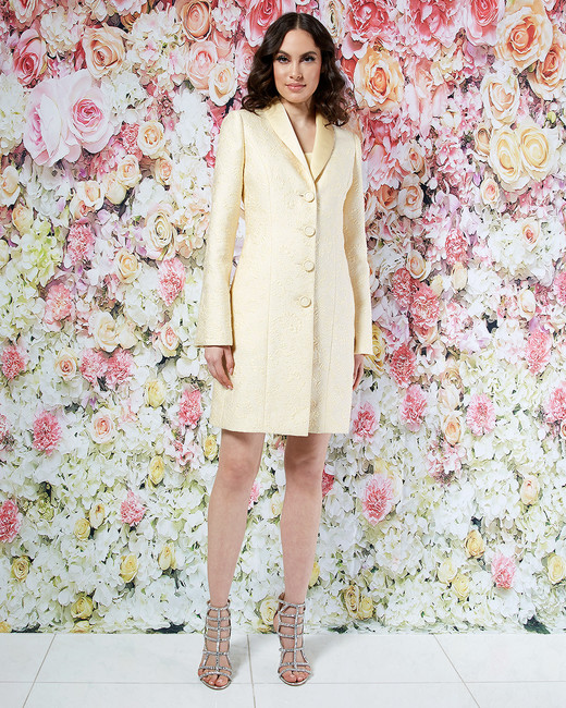 randi rahm wedding dress spring 2019 yellow long collared jacket