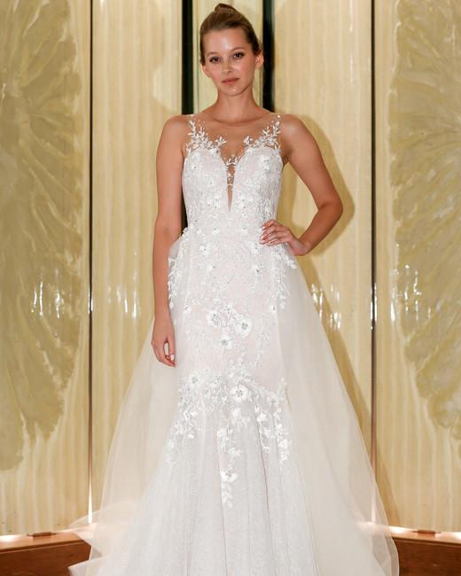 randy fenoli wedding dress floral applique illusion a-line