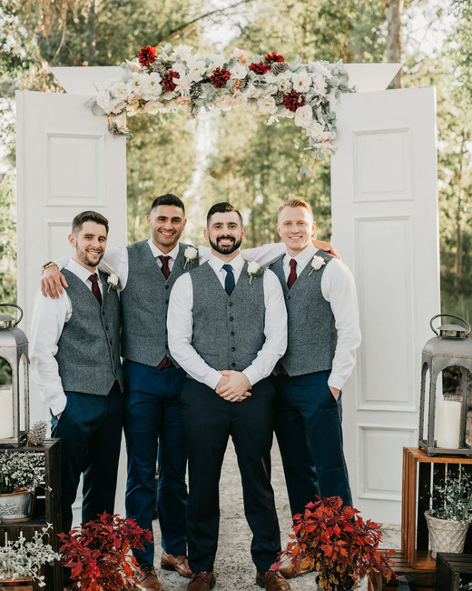 red wedding ideas jessica bordner groomsmen