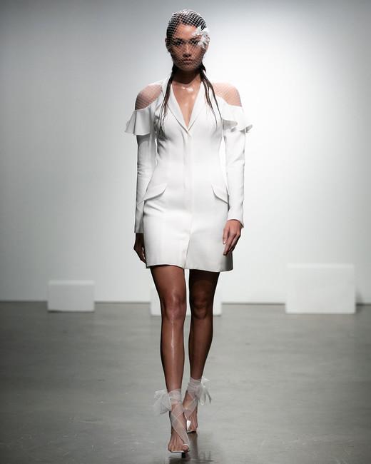 rime arodaky fall 2019 short sheath v neck cutout netting pockets