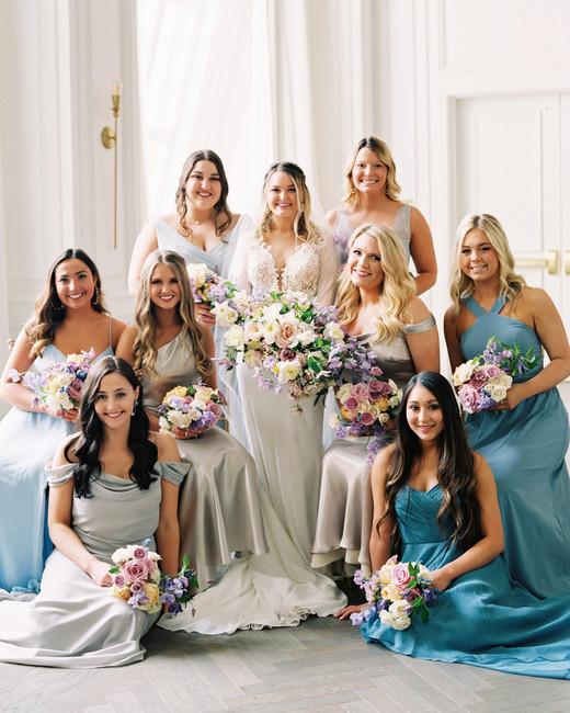 stephanie joe wedding bride and bridesmaids