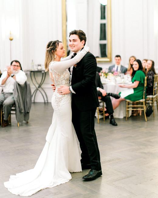 stephanie joe wedding bride groom first dance
