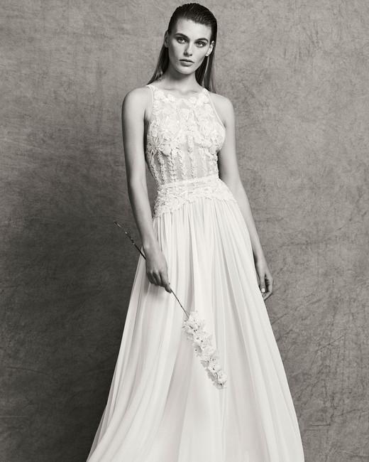 zuhair murad lace sheath wedding dress fall 2018
