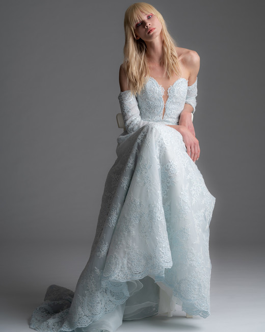 alyne rita vinieris fall 2019 lace off the shoulder long sleeve a-line gown