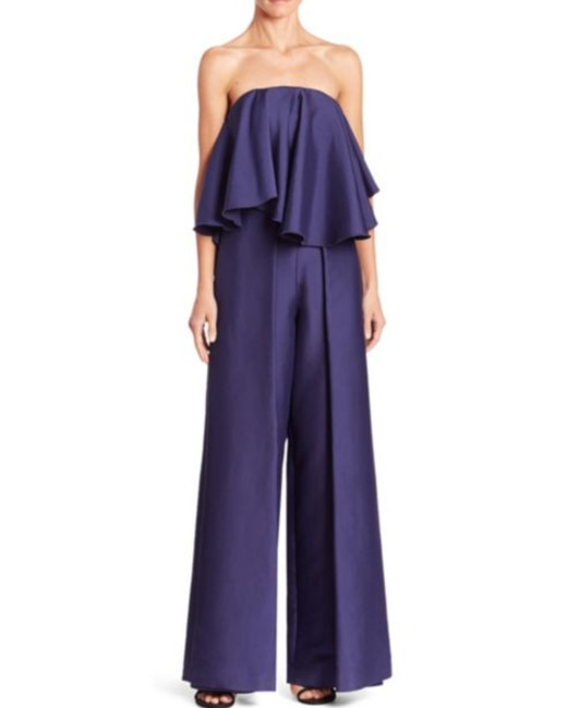 blue fluttery jumpsuit