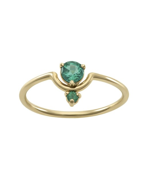 Gold Band Emerald Ring