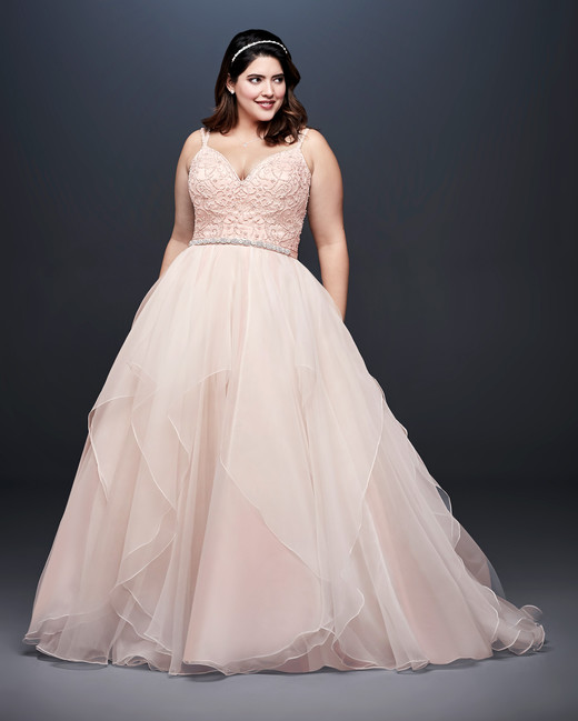 david bridal wedding dress spring 2019 sleeveless blush a-line