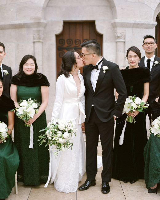 diana alex wedding couple kiss