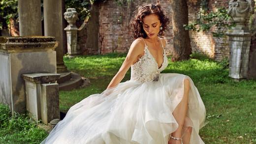 eve of milady spaghetti strap sweetheart wedding dress fall 2018