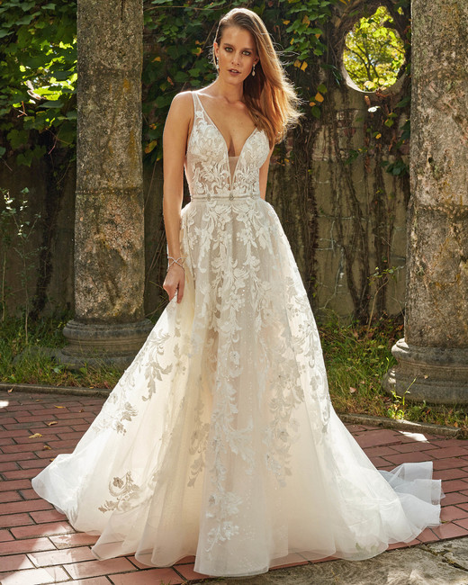 eve of milady v-neck ball gown wedding dress fall 2018