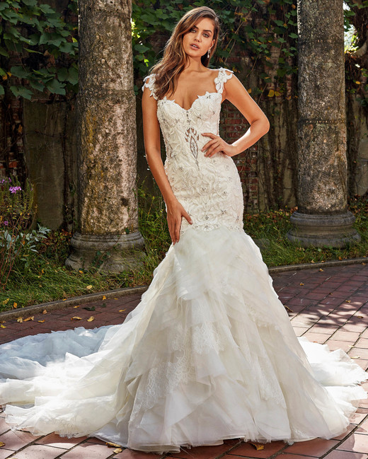 eve of milady embellished sweetheart trumpet wedding dress fall 2018