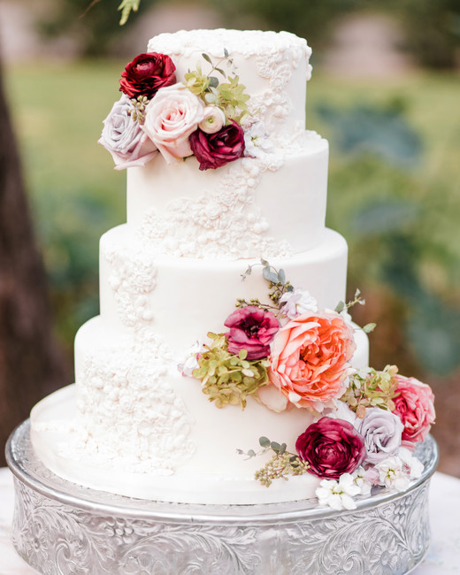 floral wedding cakes jennie tewell roses outdoors