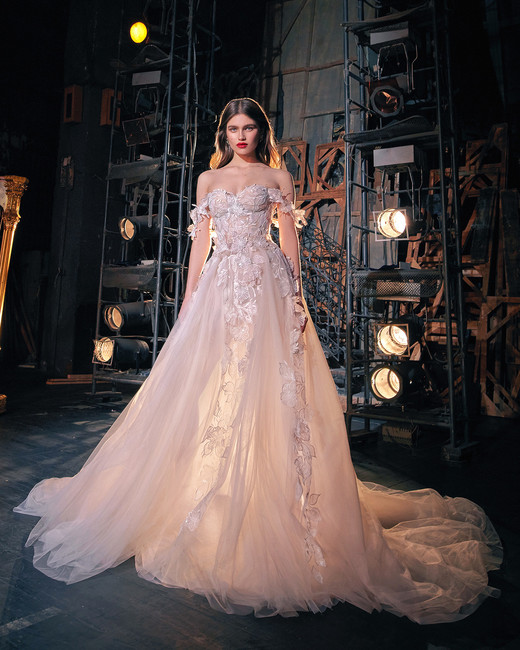 galia lahav off the shoulder tulle sweetheart wedding dress spring 2020