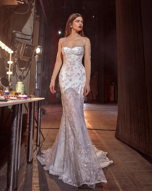 galia lahav illusion trumpet jeweled wedding dress spring 2020