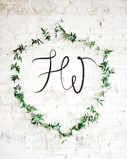 green wedding ideas melanie julian decorative wall