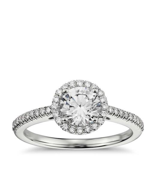 Blue Nile Classic Halo Diamond Engagement Ring