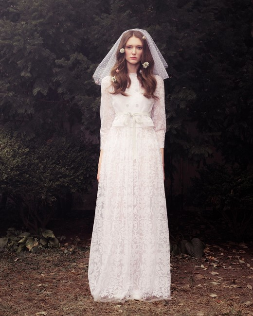 honor fall 2018 long sleeve lace wedding dress