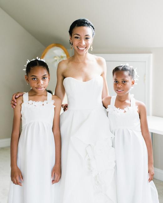 pillar paul wedding bride and flower girls