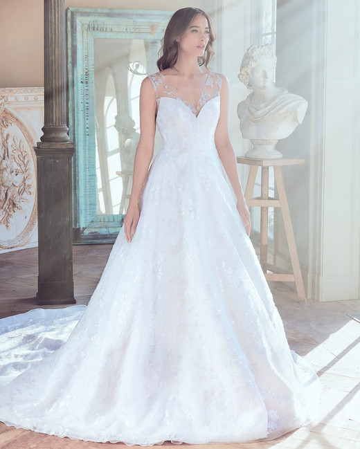 sareh nouri wedding dress spring 2019 sweetheart a-line with train