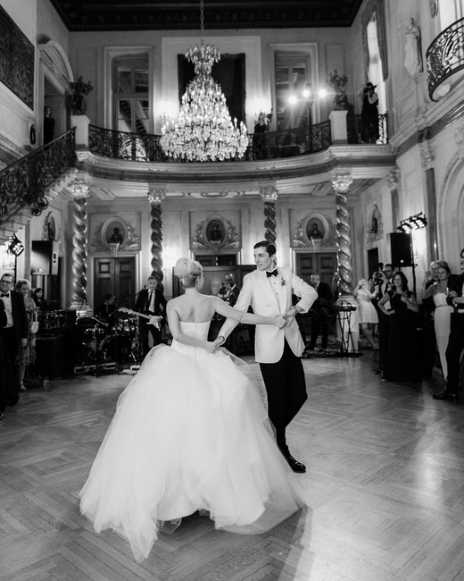 bride and groom first dance wedding reception venue