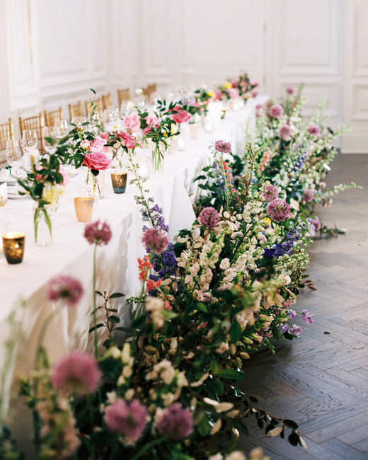 stephanie joe wedding reception tables