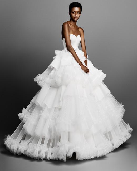 tiered viktor rolf tulle wedding dress spring 2019