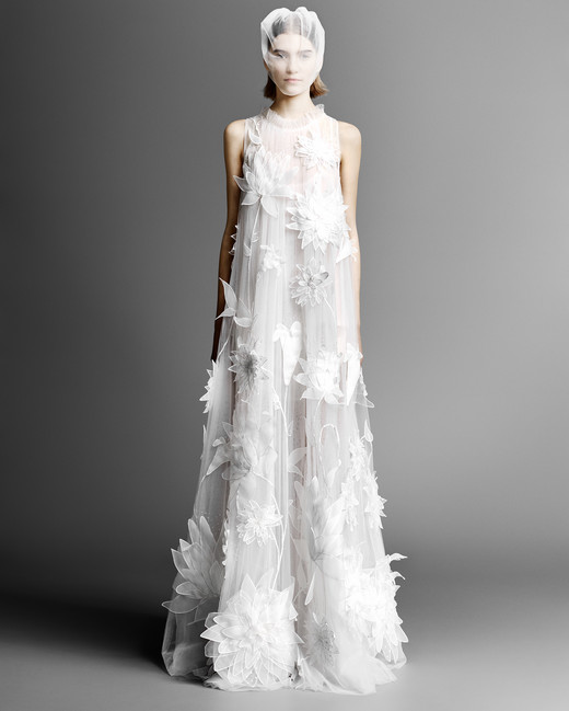 high neck viktor rolf sheath wedding dress spring 2019