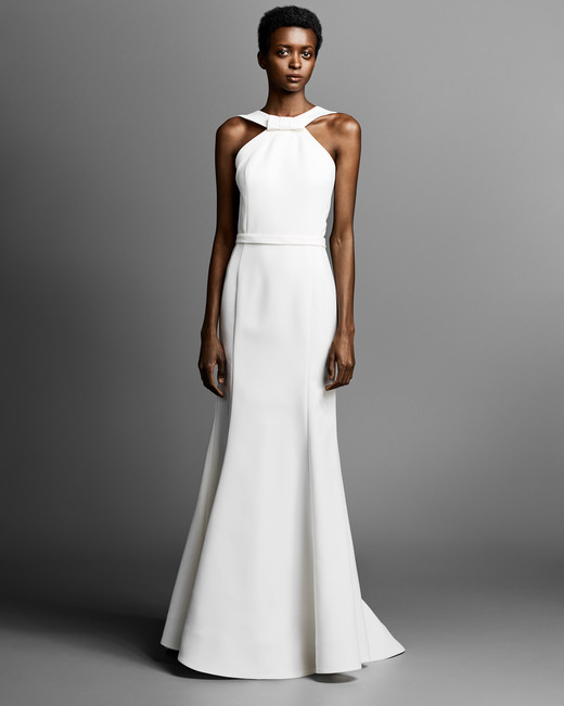 viktor rolf wedding dress with halter neckline spring 2019