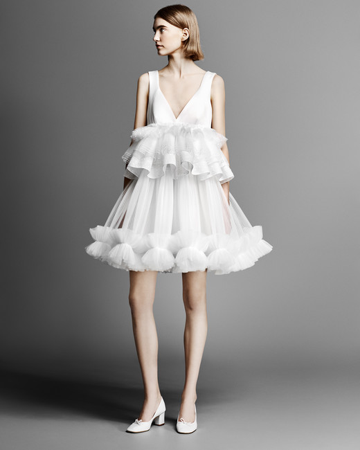 short viktor rolf wedding dress spring 2019