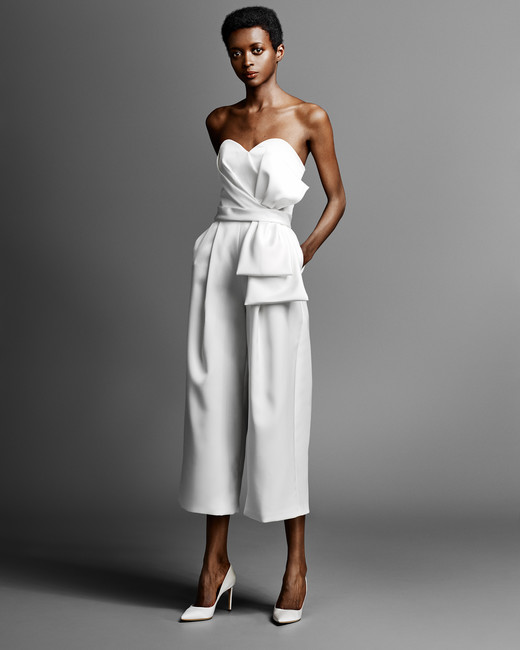 viktor rolf wedding jumpsuit with sweetheart neckline spring 2019