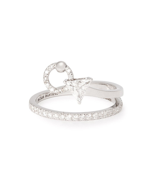 "Delfina Delettrez ""Marry Me"" 18-Karat White Gold and Diamond Ring"