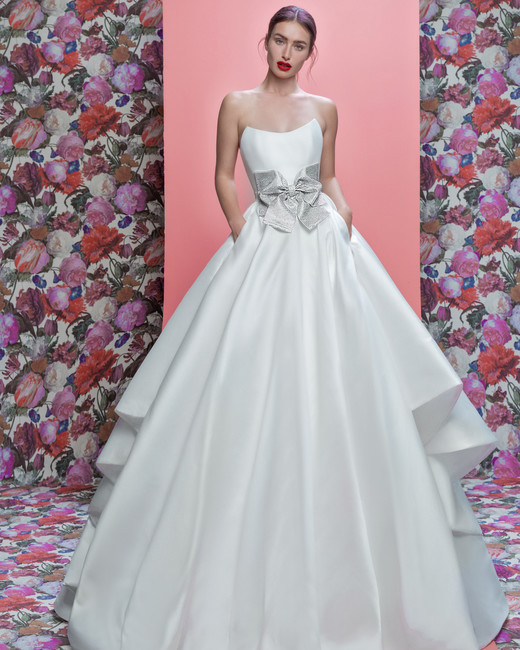 Galia Lahav wedding dress spring 2019 strapless satin ball gown