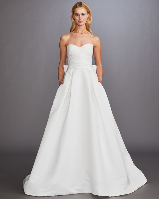 04af16a3a9 strapless sweetheart neckline a-line wedding dress Allison Webb Spring 2020