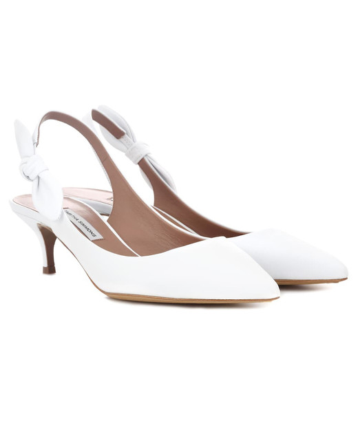 """Tabitha Simmons """"Rise"""" Leather Sling-Back Pumps"""