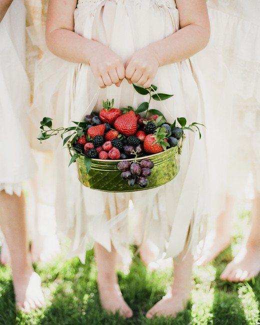 berry wedding ideas jenna henderson flower girl basket