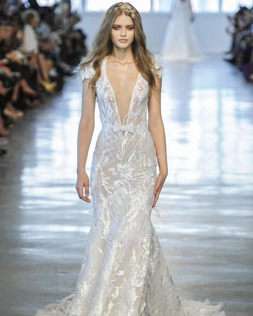Berta Off-the-Shoulder V-Neck Mermaid Wedding Dress Fall 2018